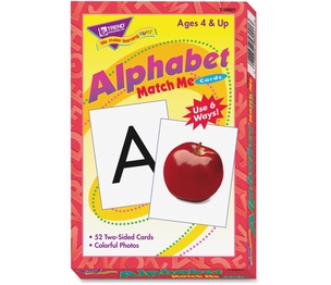 "TREND ENTERPRISES, INC. T58001 Alphabet Match Me Flash Cards, 3""x3-7/8"", 6 And Up by Trend"