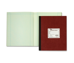 """Tops Products 35126 Computation Notebk, 156 Pgs/78 Shts,11-3/4""""x9-1/4"""", RD Cover by TOPS"""
