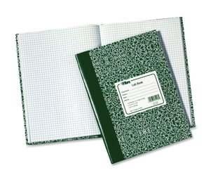 "Tops Products 35128 Lab Notebook, 10-3/8""x7-7/8"", 60 Shts, Green Marble Cover by TOPS"