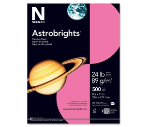 "Neenah Paper, Inc 22118 Astrobright Paper, 24Lb, 8-1/2""x11"", 500/PK, Plasma Pink by Astrobrights"