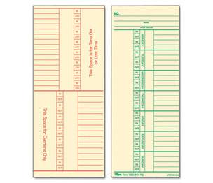 Tops Products 1260 Time Card for Cincinnati, Named Days, Two-Sided, 3 3/8 x 8 1/4, 500/Box by TOPS BUSINESS FORMS