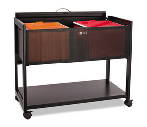 Safco Products 5353BL Locking Top Mobile Tub File, One-Shelf, 33-1/4w x 17d x 27h, Black by SAFCO PRODUCTS