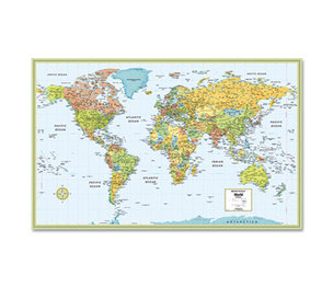 Advantus Corporation AVT-RM52895993X M-Series Full-Color Laminated World Map, 32 x 50 by ADVANTUS CORPORATION