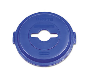 RUBBERMAID COMMERCIAL PROD. 1788380 Single Stream Recycling Top for Brute 32gal Containers, Blue by RUBBERMAID COMMERCIAL PROD.
