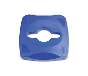 RUBBERMAID COMMERCIAL PROD. 1788374 Untouchable Single Stream Recycling Top, Blue by RUBBERMAID COMMERCIAL PROD.