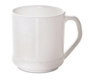 Savannah Corp NAH-RP16 Reusable CPLA Corn Plastic Mug, Squat Wide, 10oz, White by SAVANNAH SUPPLIES INC.