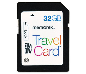 MEMOREX 32020024991 SDHC TravelCard, Class 10, 32GB by MEMOREX