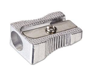 OFFICEMATE INTERNATIONAL CORP. 30218 Metal Pencil Sharpener, Metallic Silver, 4/Pack by OFFICEMATE INTERNATIONAL CORP.
