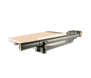 """ACME UNITED CORPORATION 15107 TrimAir Titanium Guillotine Paper Trimmer, Wood Base, 15"""" by ACME UNITED CORPORATION"""