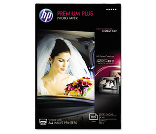 Hewlett-Packard CR666A Premium Plus Photo Paper, 80 lbs., Soft-Gloss, 4 x 6, 100 Sheets/Pack by HEWLETT PACKARD COMPANY