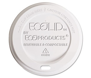 Eco-Products, Inc EP-ECOLID-W Hot Cup Lid, Fits 10-20oz Cups, Translucent, 800/Carton by ECO-PRODUCTS,INC.