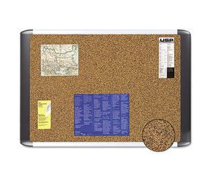 Bi-silque S.A MVI270501 Tech Cork Board, 48x72 Silver/Black Frame by BI-SILQUE VISUAL COMMUNICATION PRODUCTS INC
