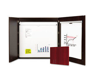 Bi-silque S.A CAB01010143 Conference Cabinet, Porcelain Magnetic, Dry Erase, 48 x 48, Ebony by BI-SILQUE VISUAL COMMUNICATION PRODUCTS INC
