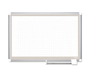 Bi-silque S.A CR0632830A All Purpose Porcelain Dry Erase Planning Board, 1x2 Grid, 36x24, Aluminum Frame by BI-SILQUE VISUAL COMMUNICATION PRODUCTS INC