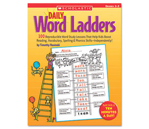 Scholastic 0439513839 Daily Word Ladders, Grades 2-3, 112 Pages by SCHOLASTIC INC.