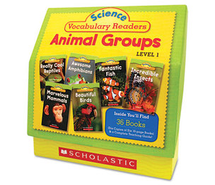 Scholastic 0545149207 Science Vocabulary Readers: Animal Groups, 26 books/16 pages and Teaching Guide by SCHOLASTIC INC.