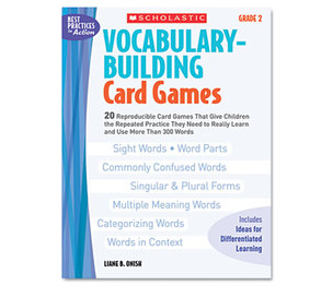 Scholastic 0439554659 Vocabulary Building Card Games, Grade Two, 80 pages by SCHOLASTIC INC.