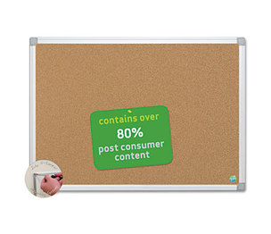 Bi-silque S.A CA051790 Earth Cork Board, 36 x 48, Aluminum Frame by BI-SILQUE VISUAL COMMUNICATION PRODUCTS INC