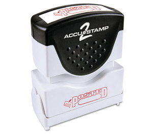 Consolidated Stamp Manufacturing Company 035580 Accustamp2 Shutter Stamp with Microban, Red, POSTED, 1 5/8 x 1/2 by CONSOLIDATED STAMP