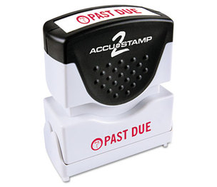 Consolidated Stamp Manufacturing Company 035571 Accustamp2 Shutter Stamp with Microban, Red, PAST DUE, 1 5/8 x 1/2 by CONSOLIDATED STAMP