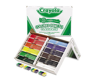 BINNEY & SMITH / CRAYOLA 688024 Colored Woodcase Pencil Classpack, 3.3 mm, 12 Assorted Colors/Box by BINNEY & SMITH / CRAYOLA