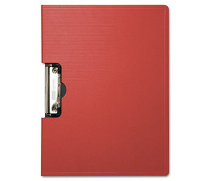 "BAUMGARTENS 61642 Portfolio Clipboard With Low-Profile Clip, 1/2"" Capacity, 11 x 8 1/2, Red by BAUMGARTENS"
