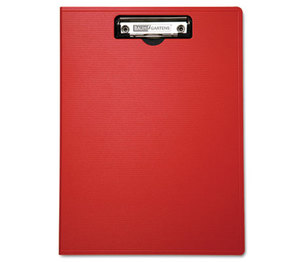 "BAUMGARTENS 61632 Portfolio Clipboard With Low-Profile Clip, 1/2"" Capacity, 8 1/2 x 11, Red by BAUMGARTENS"