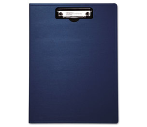 "BAUMGARTENS 61633 Portfolio Clipboard With Low-Profile Clip, 1/2"" Capacity, 8 1/2 x 11, Blue by BAUMGARTENS"