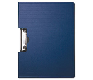"BAUMGARTENS 61643 Portfolio Clipboard With Low-Profile Clip, 1/2"" Capacity, 11 x 8 1/2, Blue by BAUMGARTENS"