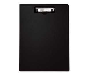 "BAUMGARTENS 61634 Portfolio Clipboard With Low-Profile Clip, 1/2"" Capacity, 8 1/2 x 11, Black by BAUMGARTENS"