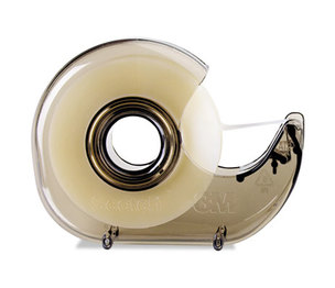 """3M H127 H127 Refillable Handheld Tape Dispenser, 1"""" Core, Plastic/Metal, Smoke by 3M/COMMERCIAL TAPE DIV."""