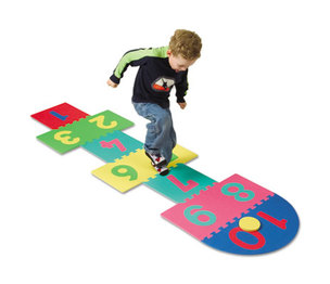 The Chenille Kraft Company 4384 WonderFoam Hop Scotch Mat by THE CHENILLE KRAFT COMPANY