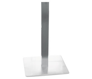 Mayline Group CA281S Hospitality Table Steel Square Tube Pedestal Base, 19-3/4 x 19-3/4 x 28, Silver by MAYLINE COMPANY