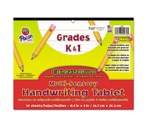 PACON CORPORATION 2470 Multi-Sensory Handwriting Tablet, 10-1/2 x 8, 40 Sheets/Pad by PACON CORPORATION