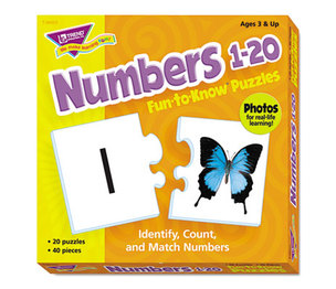 TREND ENTERPRISES, INC. T36003 Fun to Know Puzzles, Numbers 1-20 by TREND ENTERPRISES, INC.