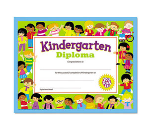 TREND ENTERPRISES, INC. T17005 Colorful Classic Certificates, Kindergarten Diploma, 8 1/2 x 11, 30 per Pack by TREND ENTERPRISES, INC.