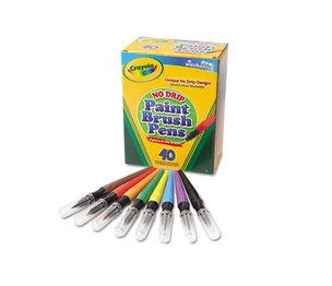 BINNEY & SMITH / CRAYOLA 546203 Washable Paint Brush Pens, 8 Assorted Colors, 40/Box by BINNEY & SMITH / CRAYOLA