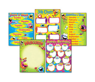 TREND ENTERPRISES, INC. T38970 Learning Chart Combo Pack, Frog-tastic! Classroom Basics, 17w x 22, 5/Pack by TREND ENTERPRISES, INC.