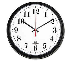 "Chicago Lighthouse Industries 67700002 Black Quartz Contract Clock, 13-3/4"", Black by CHICAGO LIGHTHOUSE FOR THE BLIND"