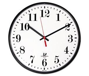 "Chicago Lighthouse Industries 67300002 Quartz Slimline Clock, 12-3/4"", Black by CHICAGO LIGHTHOUSE FOR THE BLIND"