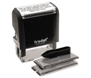 U.S. Stamp & Sign 5915 Self-Inking Do It Yourself Message Stamp, 3/4 x 1 7/8 by U. S. STAMP & SIGN