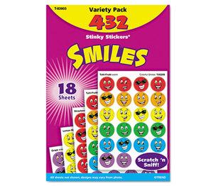 TREND ENTERPRISES, INC. T83903 Stinky Stickers Variety Pack, Smiles, 432/Pack by TREND ENTERPRISES, INC.