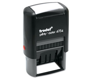 U.S. Stamp & Sign 5004 Trodat Economy 5-in-1 Stamp, Dater, Self-Inking, 1 5/8 x 1, Blue/Red by U. S. STAMP & SIGN