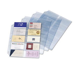 Cardinal Brands, Inc 7856000 Business Card Refill Pages, Holds 200 Cards, Clear, 20 Cards/Sheet, 10/Pack by CARDINAL BRANDS INC.