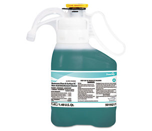 Diversey, Inc 5019211 Crew Restroom Floor/Surface Non-Acid Disinfectant Cleaner, 1.4L Bottle, 2/CT by DIVERSEY