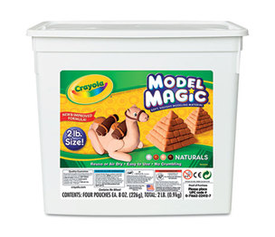BINNEY & SMITH / CRAYOLA 232412 Model Magic Modeling Compound, Assorted Natural Colors, 2 lbs. by BINNEY & SMITH / CRAYOLA