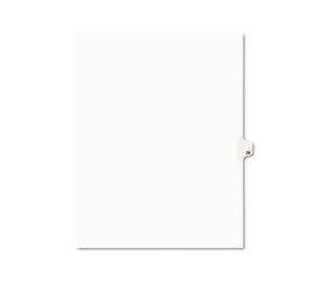 Avery 01039 Avery-Style Legal Exhibit Side Tab Divider, Title: 39, Letter, White, 25/Pack by AVERY-DENNISON