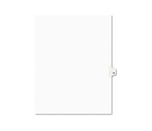 Avery 01065 Avery-Style Legal Side Tab Divider, Title: 65, Letter, White, 25/Pack by AVERY-DENNISON