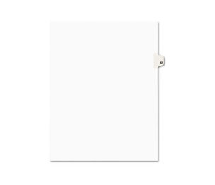 Avery 01082 Avery-Style Legal Side Tab Divider, Title: 82, Letter, White, 25/Pack by AVERY-DENNISON