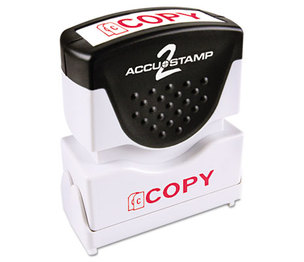 Consolidated Stamp Manufacturing Company 035594 Accustamp2 Shutter Stamp with Microban, Red, COPY,  1 5/8 x 1/2 by CONSOLIDATED STAMP